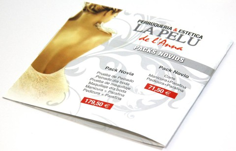 Flyer de la peluqueria La Pelu - impremaspe